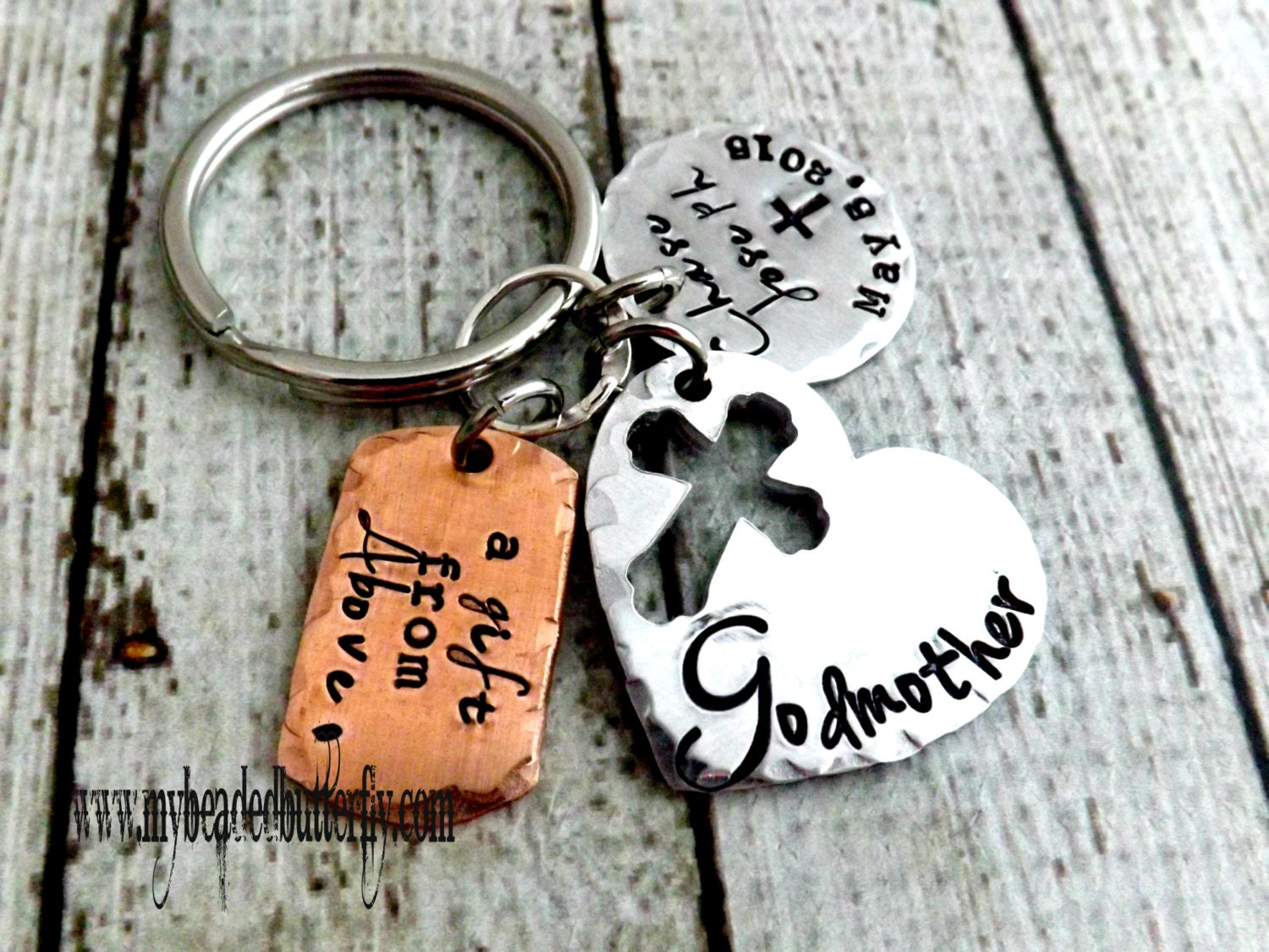 Godmother Gift Godparent Gift Personalized Gift For: Godparent Gift-godparent Key Chain-godmother