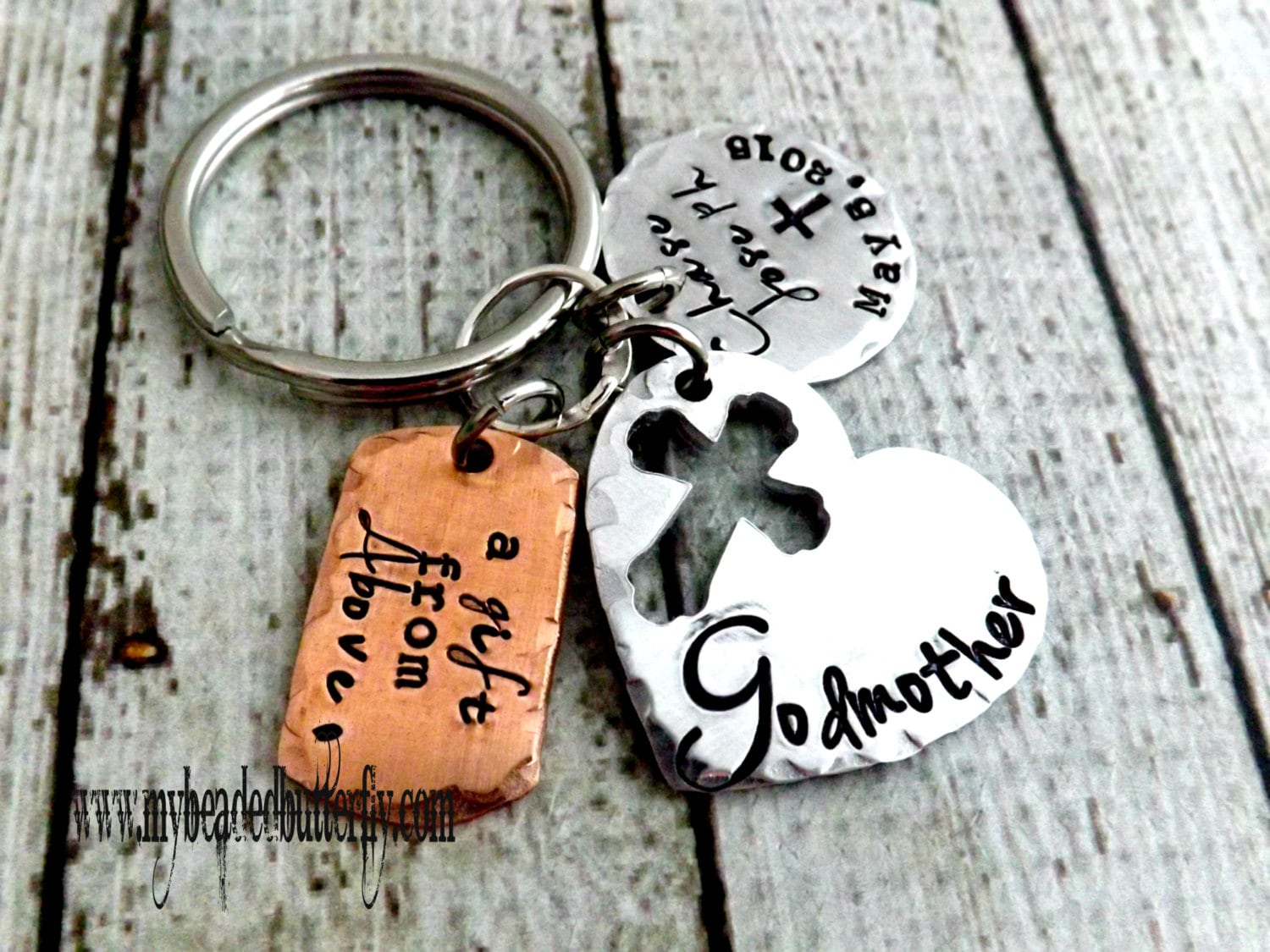 Godparent Keychain Gift For Godparents Gift For: Godparent Gift-godparent Key Chain-godmother