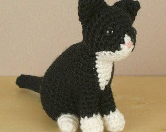PDF AmiCats Tuxedo Cat - amigurumi cat CROCHET PATTERN