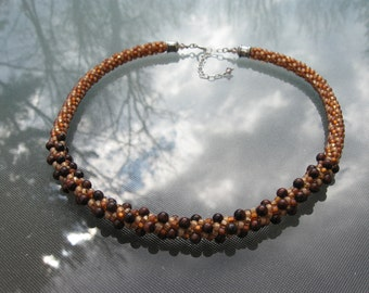Red Tiger Eye Kumihimo Necklace