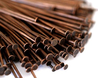 150ps 35mm Antique Copper Headpins FINDING