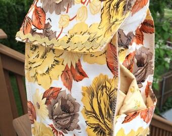 Oilcloth Lunch Bag- Autumn Paris Rose