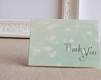 Winter Snow Thank You Notes set of 5