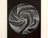 Spiral Gel Pen Drawing