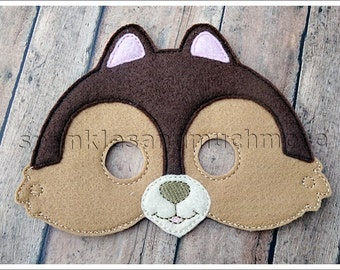 Chipmunk Mask Woodland Creatures Masks Halloween Mask Easter Stocking Stuffer Party Favor Felt Masks Pretend Play Creative Play Mask