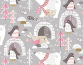 Winter Wonderland Grey by Maude Asbury - The Snow Day Collection - Blend Fabrics - One Yard Quilting Fabric