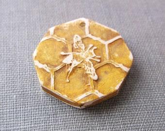 Honeycomb Bee Pendant (1)