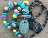 Stamped Clay Boho Necklace