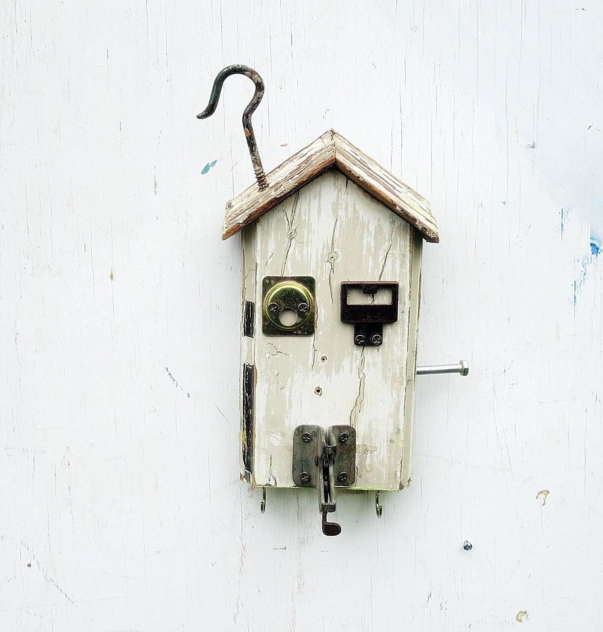 Wood Key Holder Rustic Wood Decor Salvage Art House Key
