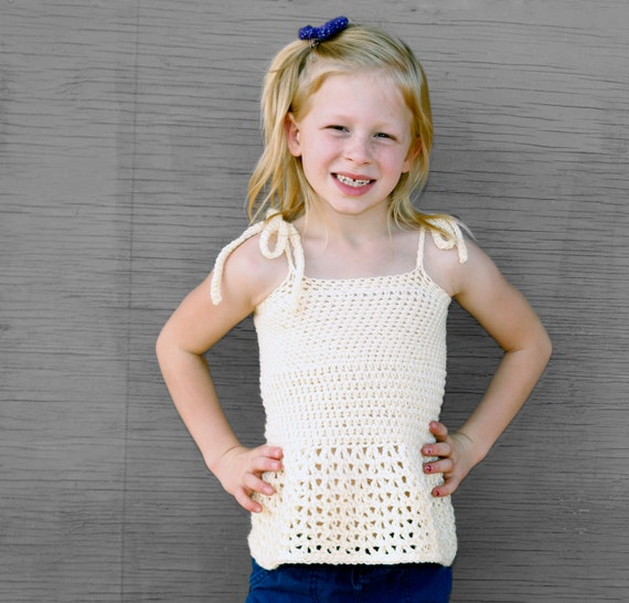 Spring Breeze Crochet Halter Top Pattern Girl Toddler Children Ages 3-6