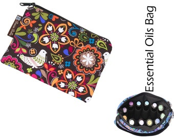 Essential Oil Bag - Essential Oil Pouch - Oil Bags - Waterproof lining fabric - Peace Love and Baby Doves Fabric