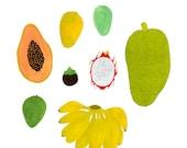 Tropical Fruits print