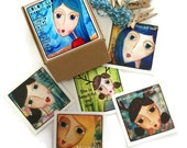 Art Cards, Kindness Cards, Scatter Kindness,  Kristie Banham 6x6cm art squares of inspiration & love FREE SHIPPING in Australia, Gift Cards