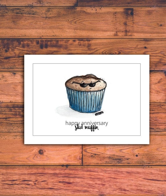 Printable Anniversary Card For Him, Stud Muffin, Funny Anniversary Card,  Husband, Boyfriend, Baker, Anniversary Card, Download, Printable  Printable Anniversary Cards For Husband