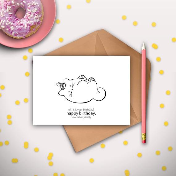 Grumpy Cat Birthday Card Printable Kawaii Mtm