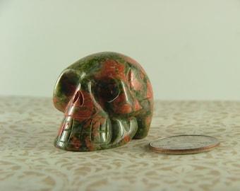 Unakite Skull-6