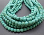 50 Turquoise Howlite Beads 8MM (H1904)