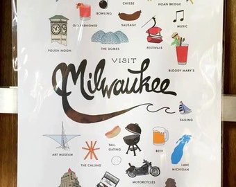 Visit Milwaukee Print (12X18)