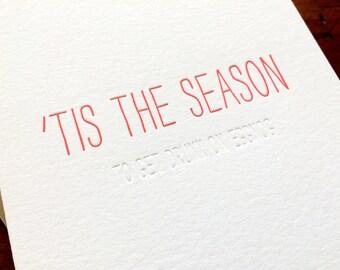 Hidden Message: Eggnog, single letterpress card