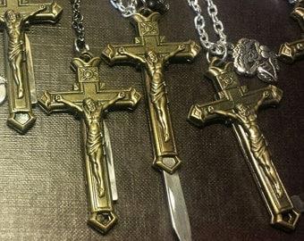 Cross Knife Necklace