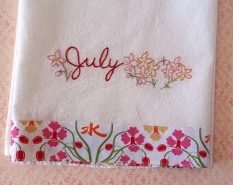 July Larkspur PDF Hand Embroidery Pattern Instant Digital Download