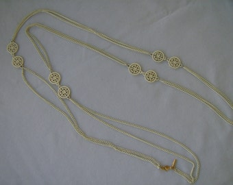 Vintage Monet Asian Motif Necklace