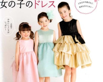 Girls Handmade Special Dresses - Japanese Craft Book