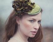 Green Floral Hat