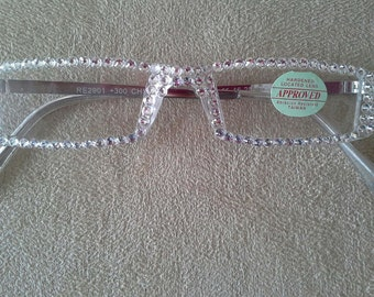 Sexy Full Crystal Clear Reading Glasses made with Swarovski Crystals