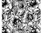 Tapestry Flowers Silk Screen (F11)