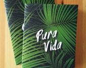 Pura Vida jungle inspired pocket-sized travel notebook