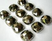 Gemstone Cabochons Pyrite Cushion Rose Cut 10mm FOR ONE