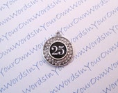 Customized Personalized Players Numbers Charm Baseball Softball Basketball Volleyball Football Soccer Any Sports Crystal Silver Pendant