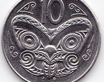 Cuff Links Featuring New Zealand's Maori Tiki on a 10cent coin