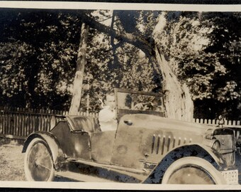vintage photo EArly Unusual SPorts CAr Convertible Coupe Pieced Flat rim Tire Walls