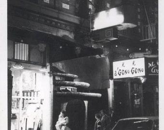 vintage photo 1966 Chinatown San Francisco CA Disco Club A Gong Gong at Night