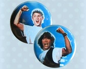 Bill and Ted's Excellent Pinback Buttons 1980s (Set of 2)