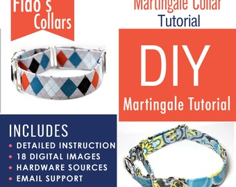 Martingale Collar Tutorial - How to make a martingale collar - INSTANT Download - PDF only