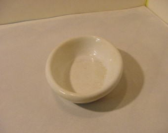 Vintage Stone China Soap Dish J & E Mayer marked off white | collectible Bath decor Minimalist Rustic crackled glaze