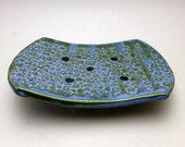 Blue and Green Variegated Soap Dish