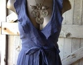 Bohemian dress gauze dress Vintage dress halter dress size small Summer wrap dress