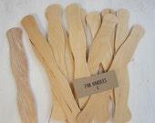 50 DIY Program Fan Sticks, Wavy Wooden Fan Handles, Wedding Ceremony Fan Handles, Wooden Fan Sticks, F01