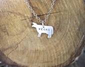 Mini Vegan Cow Necklace