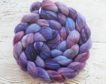 Just A Dream Merino Stellina Roving - 4oz Handpainted