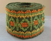 wide trim edging cotton green orange gold boho