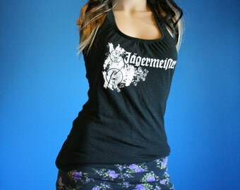 Jagermeister Shirt recycled tshirt Halter Top Small