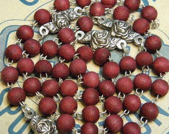 Rosary Chain Religious Supply Wooden Beads