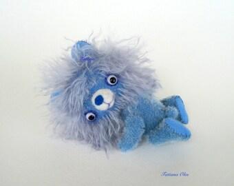 Plush Teddy Bear , Art toy , Soft art doll, 5 inches tall German mohair