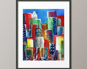 Gallery Canvas and Fine Art Prints Cityscape Art Urban Skyline Art Architecture Abstract Modern Art Elena