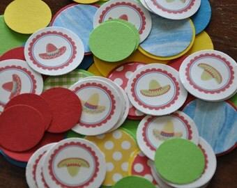 Fiesta Confetti. Sombrero Confetti. Cinco de Mayo confetti. Set of 125 pieces